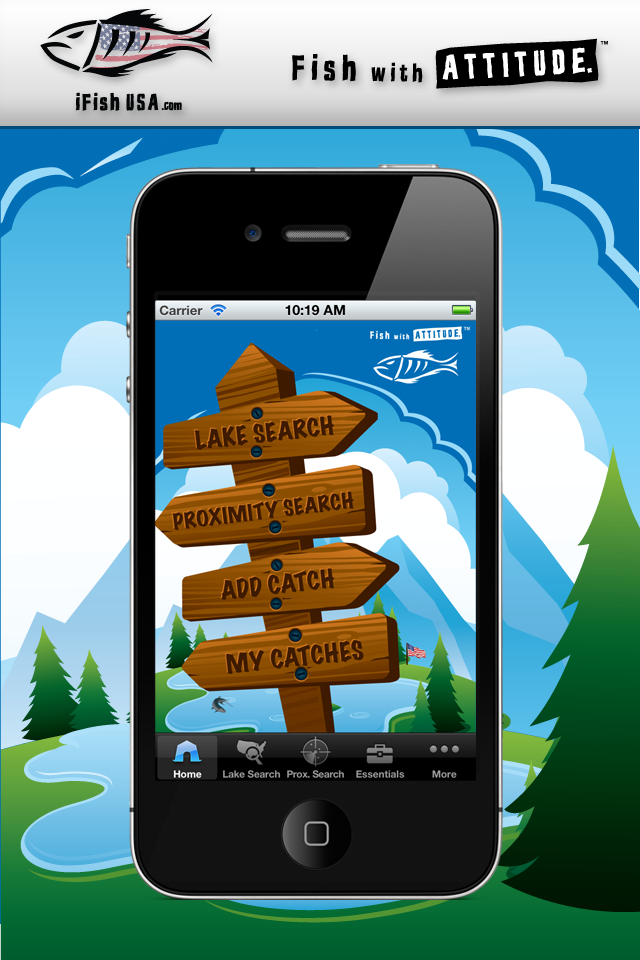 iFish USA App Home Screen